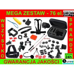 MEGA ZESTAW uchwytów i akcesoriów do kamer GoPro Hero