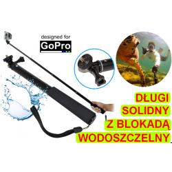 Solidny długi monopod wodoszczelny do kamer GoPro Hero