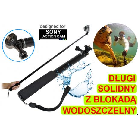Solidny długi monopod wodoszczelny do kamer Sony Action Cam