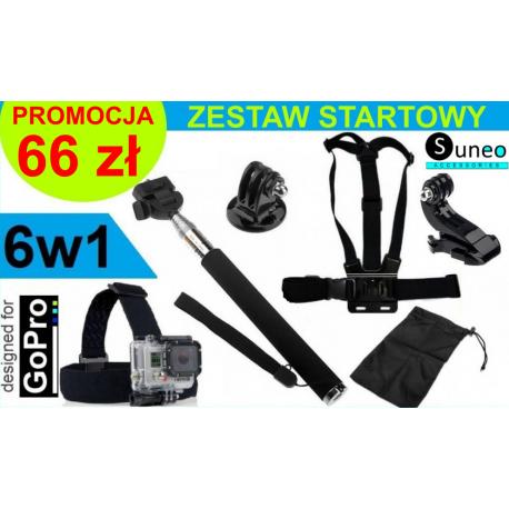 ZESTAW STARTOWY 6W1 DO GOPRO HERO