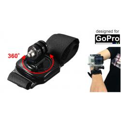 UCHWYT OBROTOWY 360 STOPNI NA NADGARSTEK/RĘKĘ DO GOPRO HERO