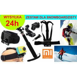 ZESTAW NA SNOWBOARD DO KAMER XIAOMI YI 1, 2 (4K, 4K+, Lite)