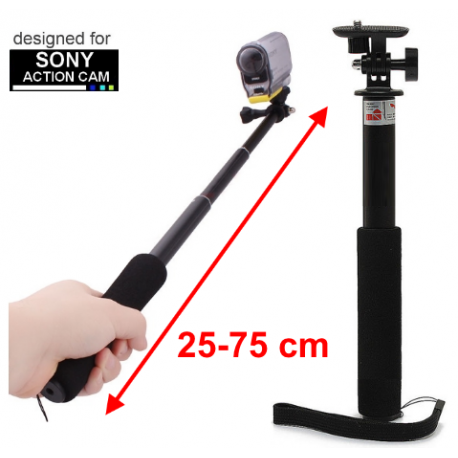 Solidny długi monopod do kamer Sony Action Cam