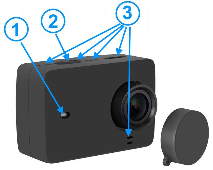 OBUDOWA SILIKONOWA wraz z dekielkiem do kamer XIAOMI YI wersji II (4K, 4K+, Lite)